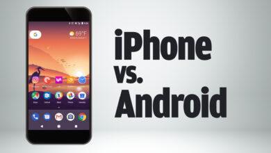 15 اختلافًا بين الهواتف الذكية
