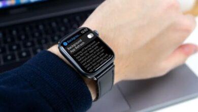 تعطيل نشاط تطبيق الخلفية على Apple Watch
