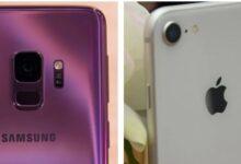 مقارنة بين هاتفي Galaxy S9 vs iPhone8