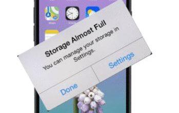 تفريغ مساحة التخزين iPhone
