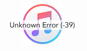 لإصلاح خطأ iTunes 39