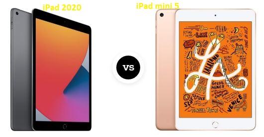مقارنة بين iPad 2020 vs iPad Mini5
