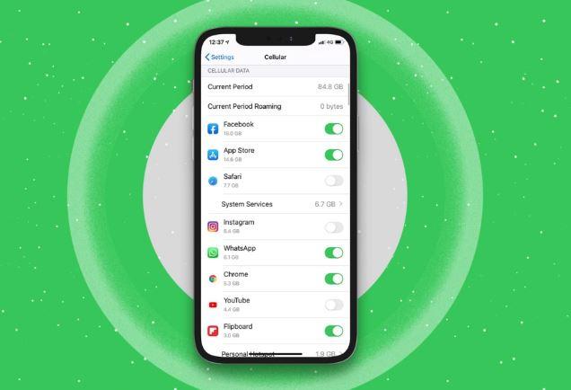 كيفية إيقاف تشغيل البيانات الخلوية لتطبيقات معينة على iPhone