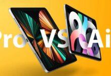 iPad Air 2020 مقابل iPad Pro 2021