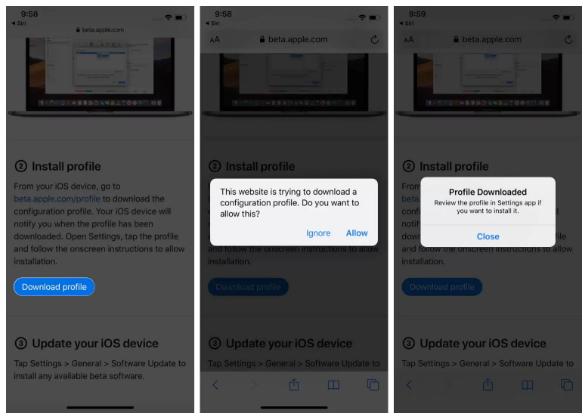 iOS 14.7 public beta1 وتثبيته على iPhone