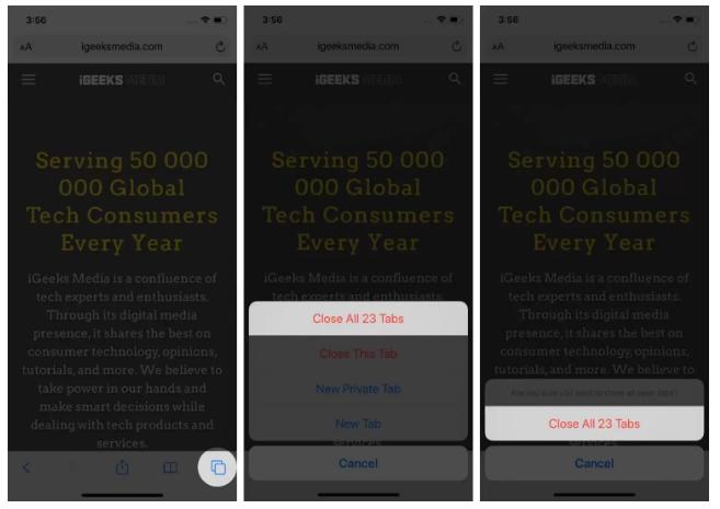 طرق إغلاق جميع علامات تبويب Safari مرة واحدة على iPhone و iPad