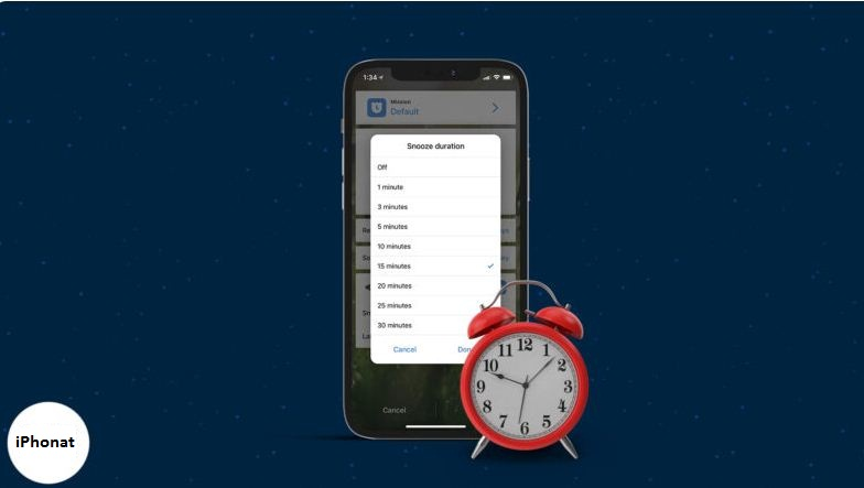 طريقة تغيير وقت الغفوة على iPhone في iOS 14