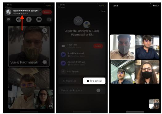 شرح Group FaceTime على iPhone وiPad من Apple