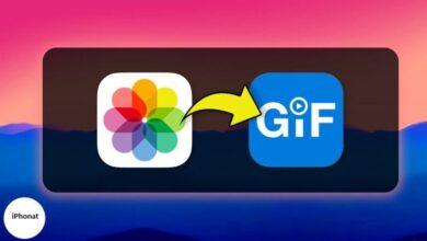 كيفية تحويل Live Photos إلى GIF على iPhone وiPad