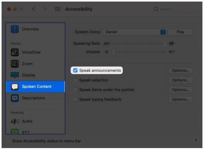 كيفية الإعلان عن التنبيهات على جهاز Mac